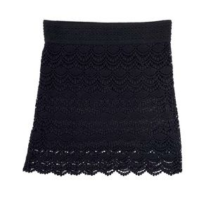 Young Threads Black Lace Mini Skirt Size M